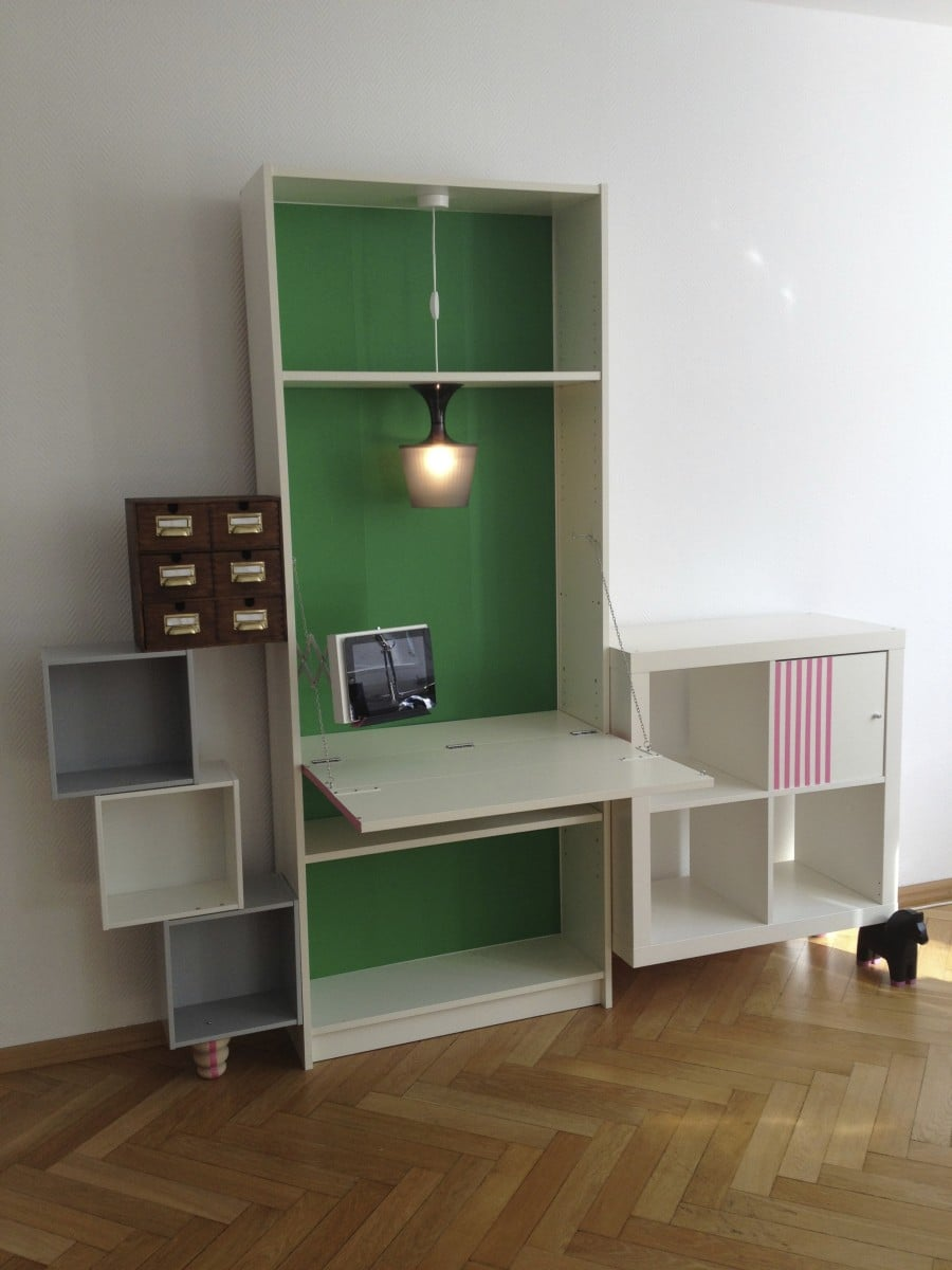 "Ikea BILLY desk ""Schwabinger 12"" from Saustarkdesign"