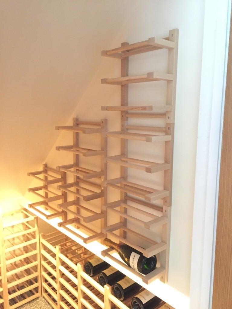 Hutten wall-mounted Side-on Wine Racking