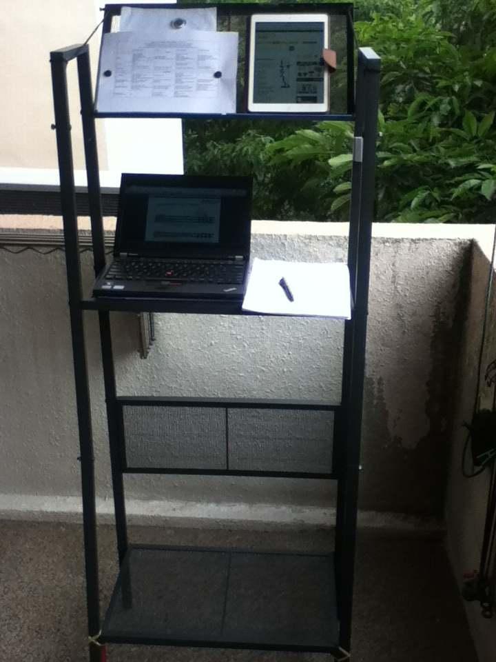 Mobile standing desk from lerberg shelf ikea hackers - Ikea mobel hack ...