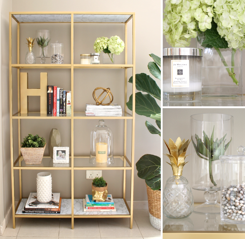 Transform a vittsj shelving unit into an elegant gold book shelf ikea hackers ikea hackers Home decor hacks pinterest