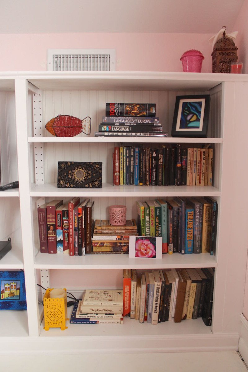 Built In Bookcase Built In Bookcase From Old Ivar Shelf Ikea Hackers Ikea Hackers