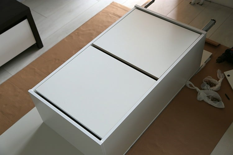 Hall cabinet with high gloss panel - IKEA Hackers - IKEA Hackers