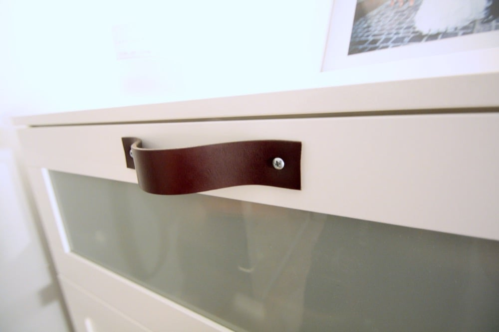How To Add Leather Pulls To The Ikea Brimnes Ikea Hackers