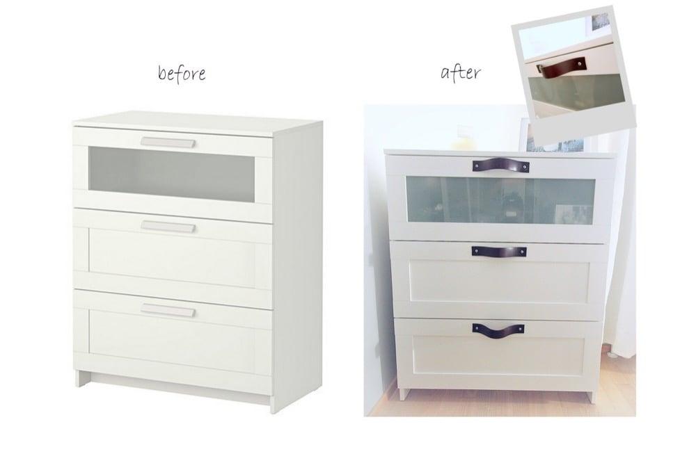 ikea 3 drawer dresser white