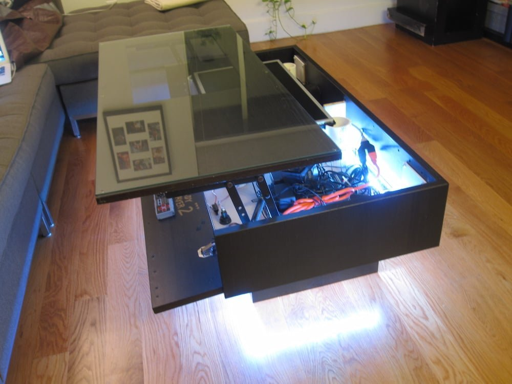 My Ramvik Arcade Table With Lift And Lock Table Top Ikea Hackers