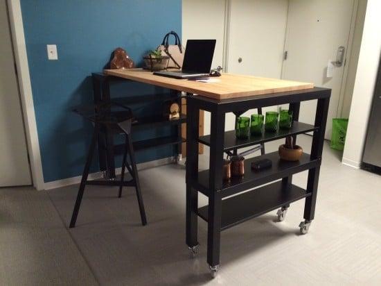 High Top Gerton Slab Kitchen Island Ikea Hackers Ikea