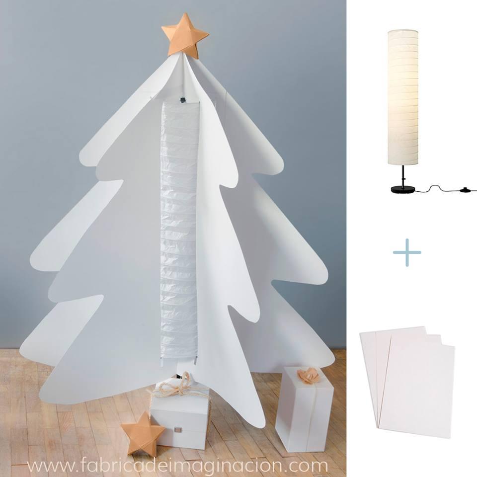 Diy paper christmas tree with holmo lamp ikea hackers ikea hackers - Sapin de noel en carton ikea ...