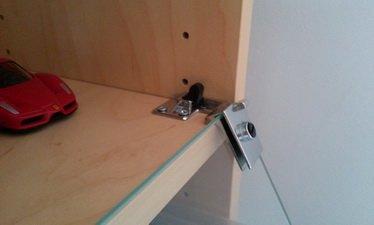 hinge screwed in