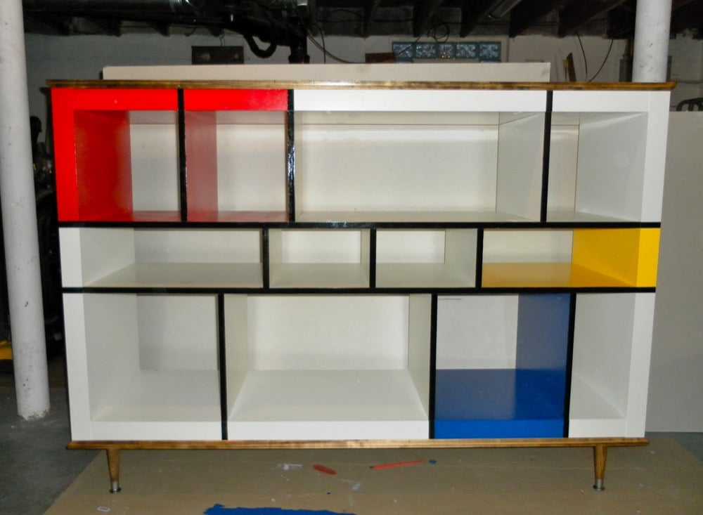 Mondrian Expedit Media Stand  IKEA Hackers  IKEA Hackers