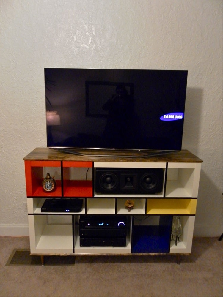 Mondrian Expedit Media Stand  IKEA Hackers  IKEA Hackers -> Meuble Tv Ikea Kallax