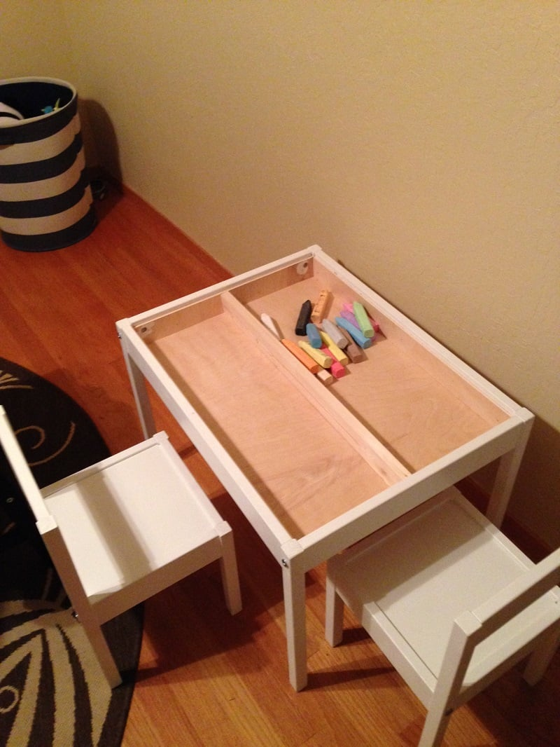 LATT compartment and reversible table top hack IKEA Hackers