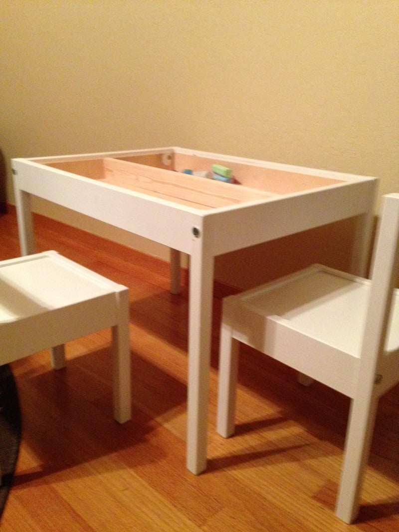 LATT compartment and reversible table top hack - IKEA ...