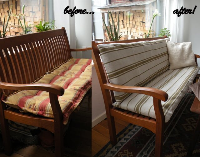 Bench Cushion Cover Made From Ikea Signe Rugs Ikea Hackers