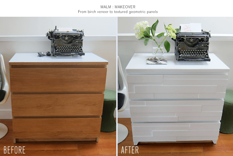 malm dresser geometric makeover ikea hackers ikea hackers. Black Bedroom Furniture Sets. Home Design Ideas
