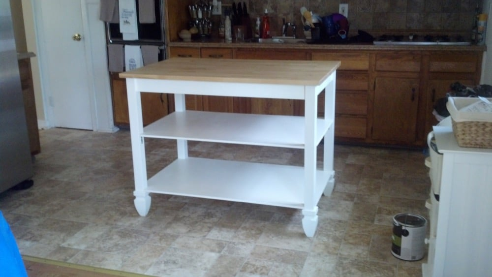Coastal Ikea Kitchen Island From Bj 214 Rkudden Table Ikea
