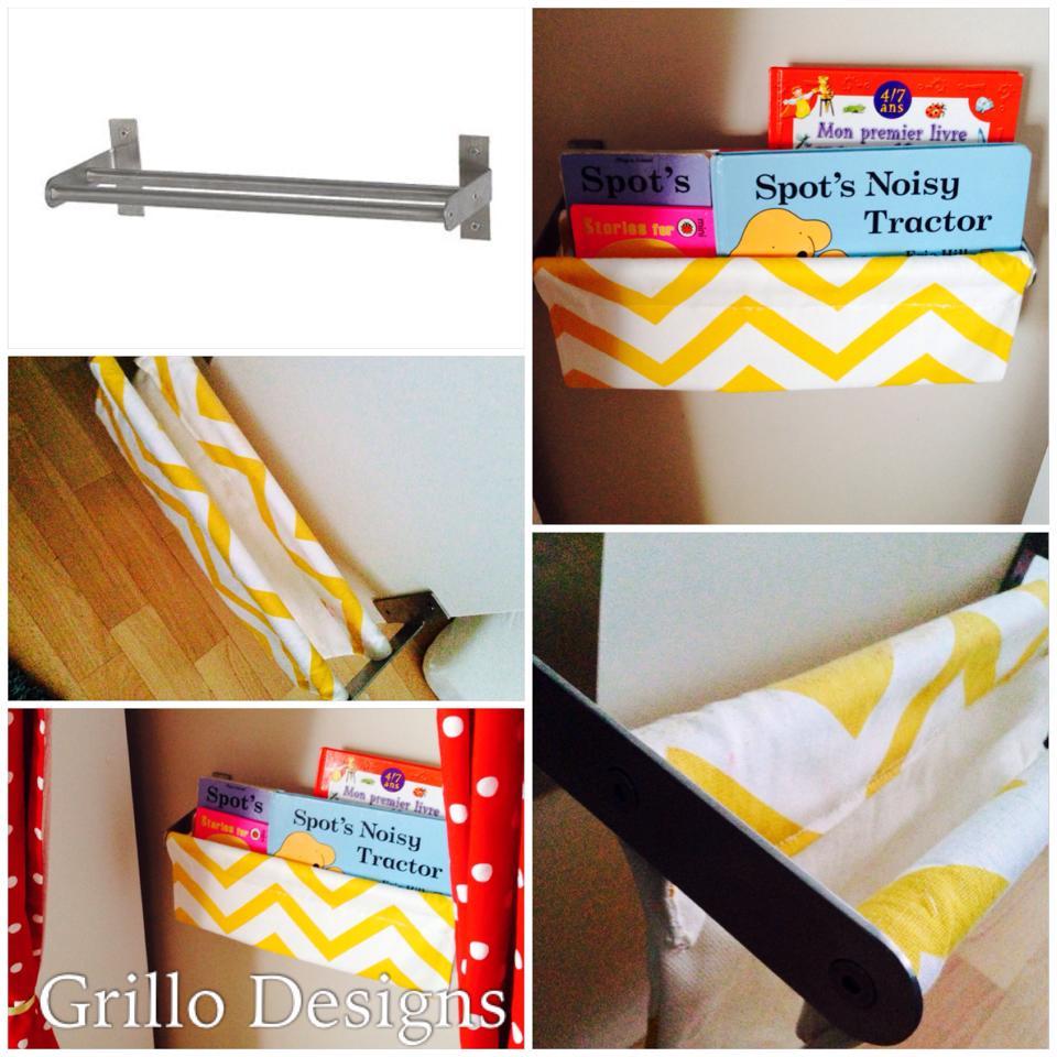 DIY Grundtal Fabric Sling Bookcase
