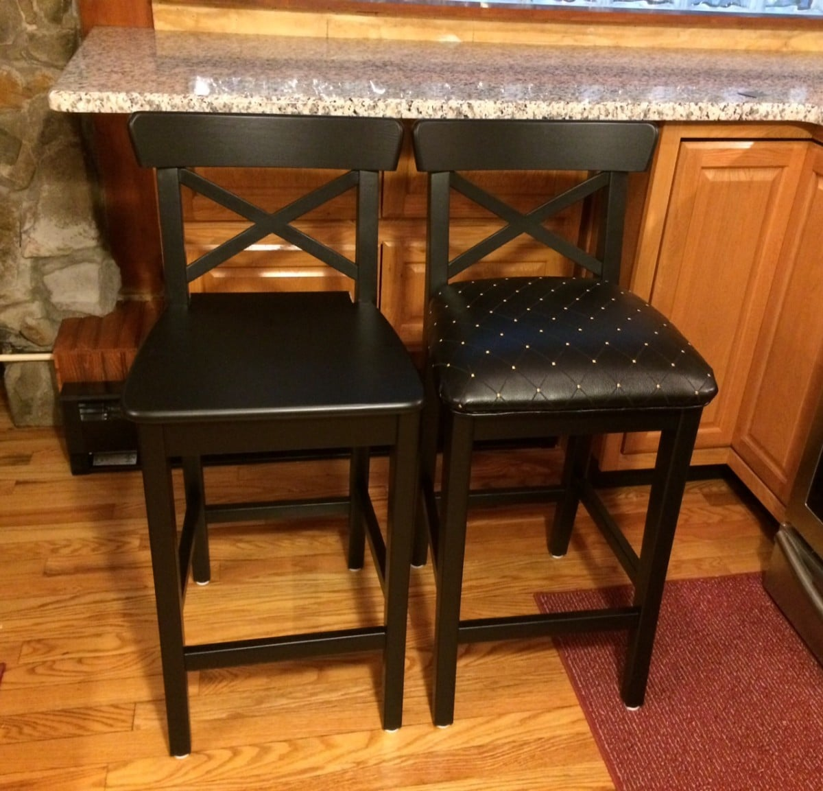 Drab To Fab Ingolf Bar Stools Ikea Hackers