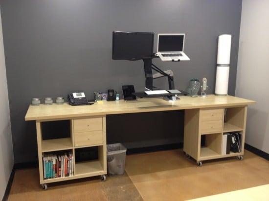 KALLAX desk ideas - standing computer desk