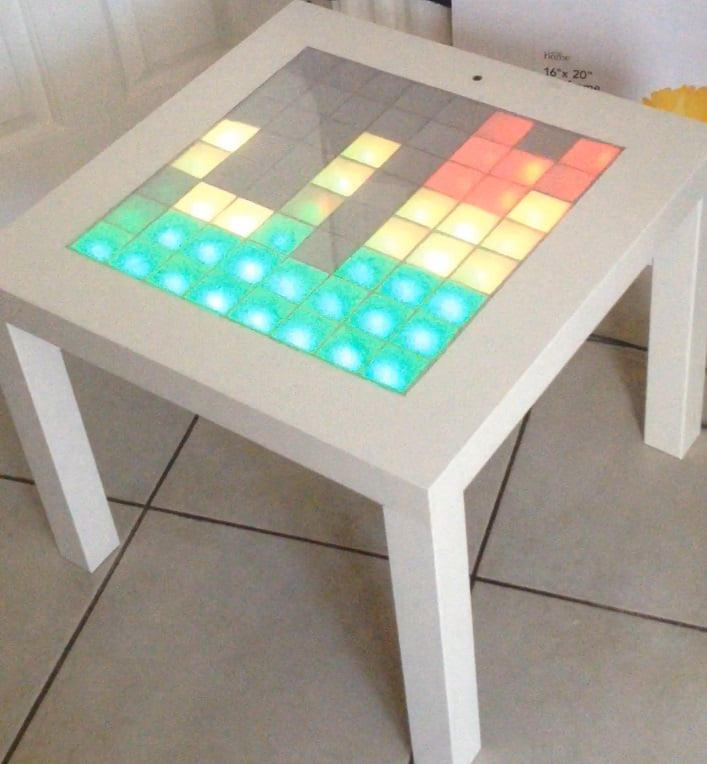 Simple IKEA Lack Table is now a Music LED Visualiser