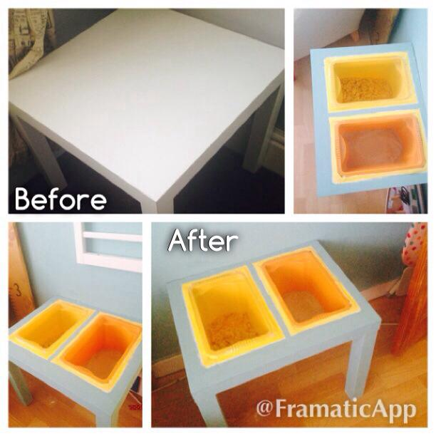 Child S Play A Sensory Table From Lack Side Table Ikea
