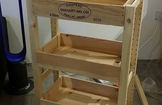 Meet Cratelley Eco Friendly Wine Crate Trolley Ikea