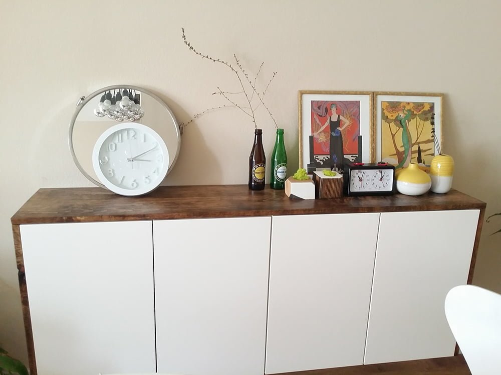 Ikea Credenza Tv Stand : Akurum floating credenza wall storage ikea hackers