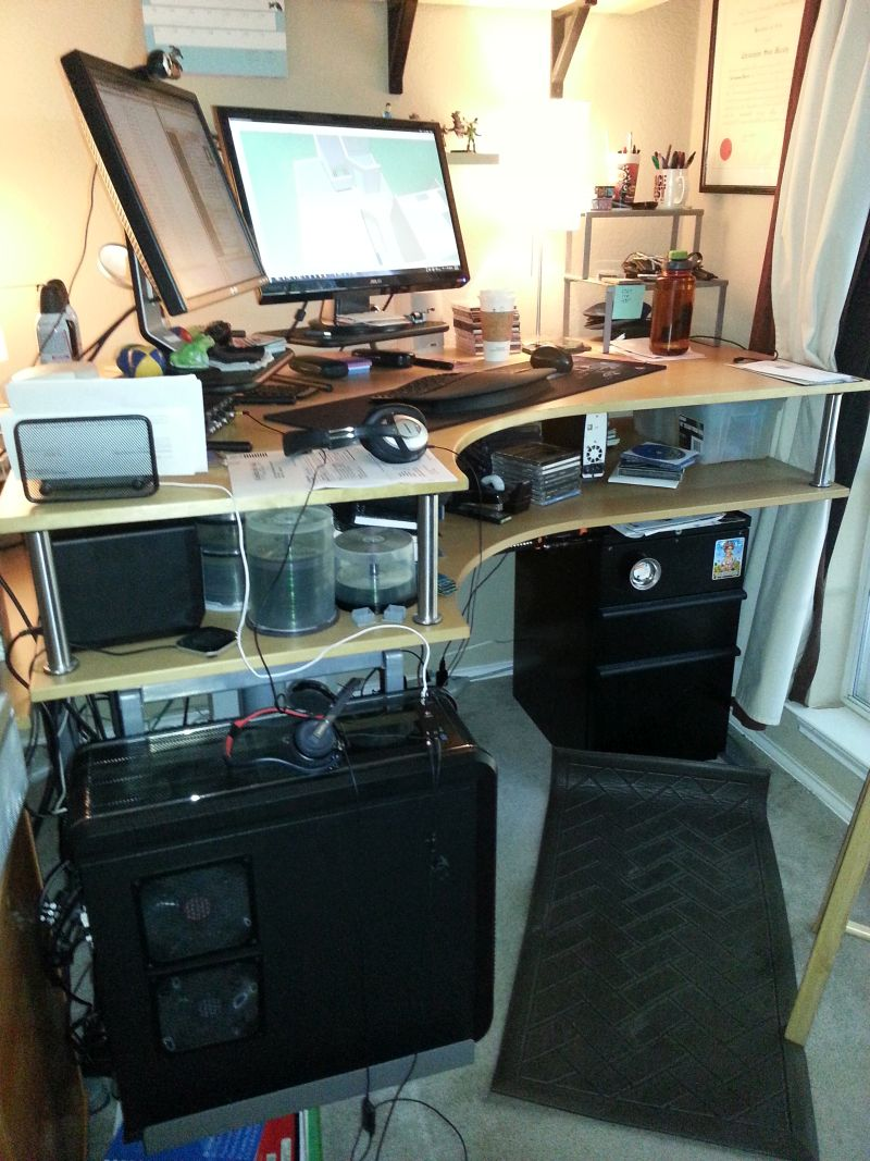 galant corner standing desk ikea hackers ikea hackers. Black Bedroom Furniture Sets. Home Design Ideas