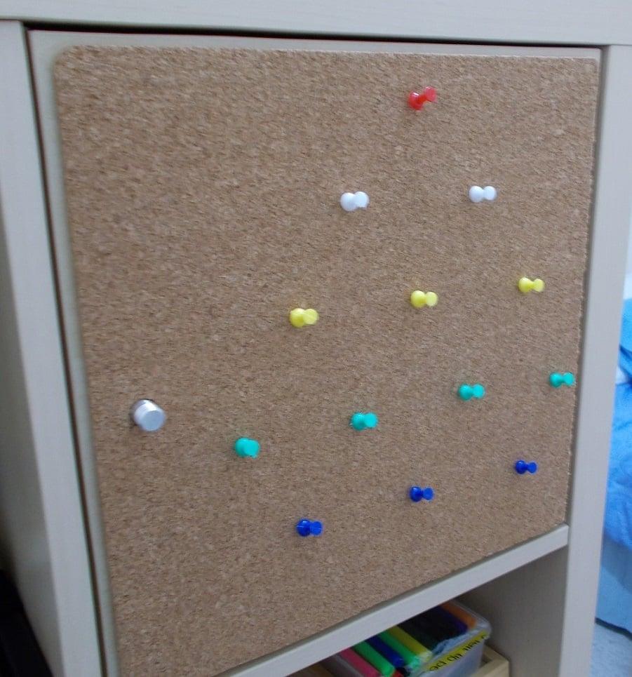 kallax door corkboard ikea hackers. Black Bedroom Furniture Sets. Home Design Ideas