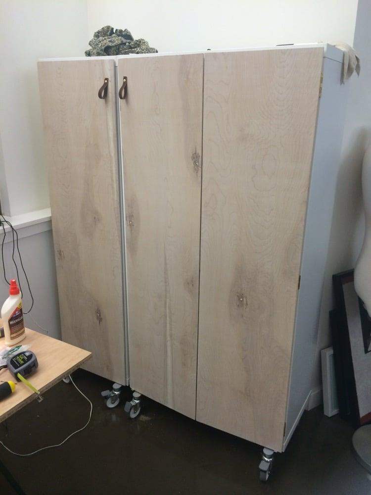 How To Add Doors To Kallax Craft Cabinet Ikea Hackers