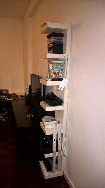 Lack Wall Shelf for Gaming Consoles - IKEA Hackers - IKEA ... Ps2 Console Back