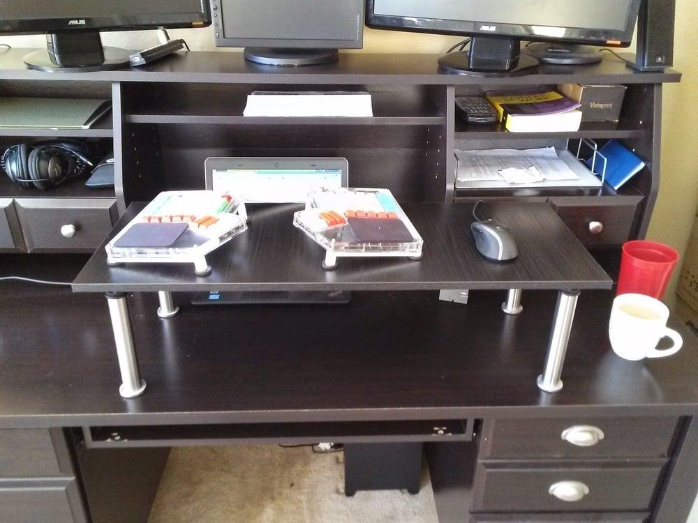 Standing Desk Keyboard Riser Shelf