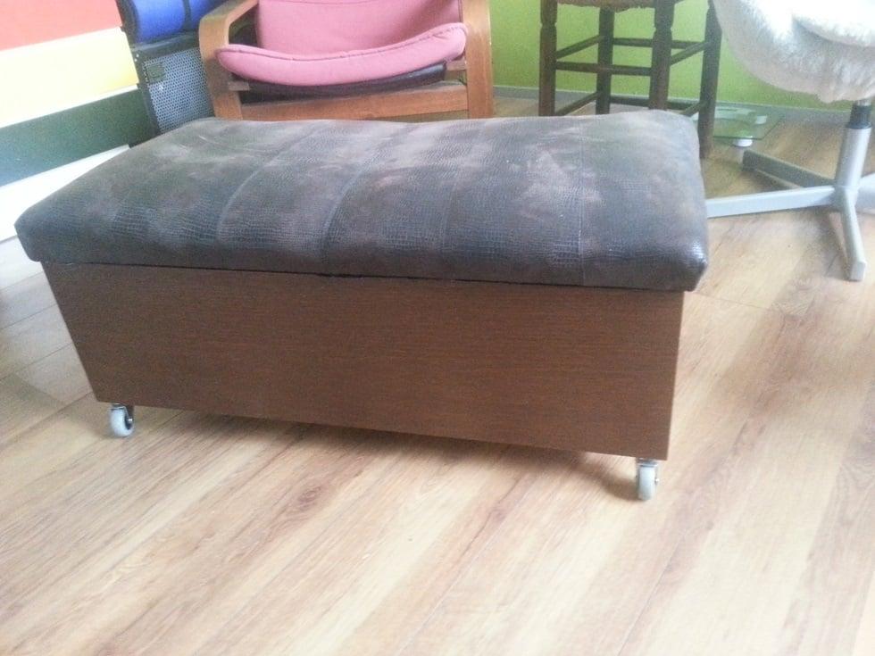 Storage Bench On Wheels Ikea Hackers