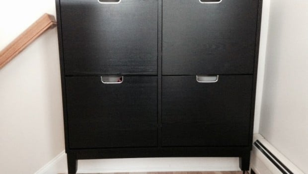 Stall Shoe Cabinet Hack For Tall Baseboards Ikea Hackers