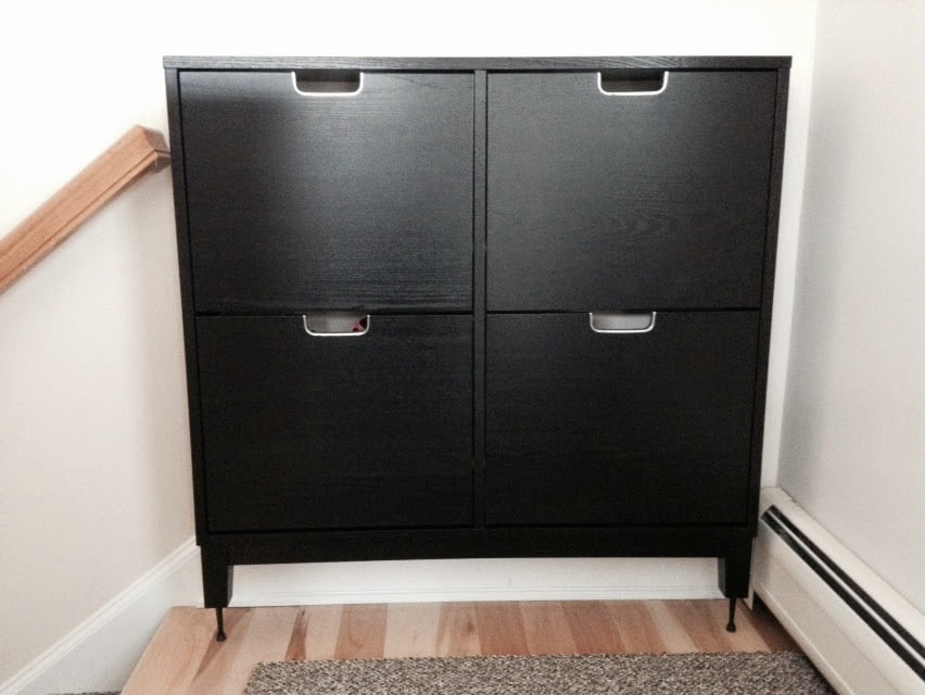 STALL Shoe Cabinet Hack for tall baseboards - IKEA Hackers