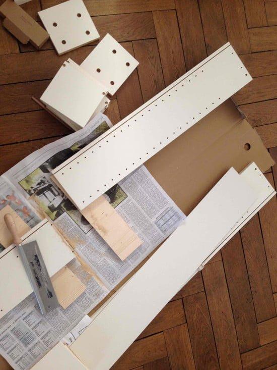 diaper changing table IKEA Hemnes hack
