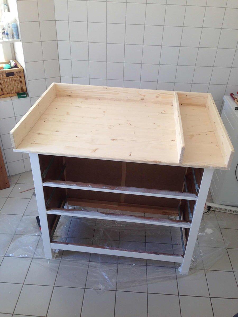 Wickeltisch Ikea wickeltisch hemnes changing table ikea hackers ikea hackers