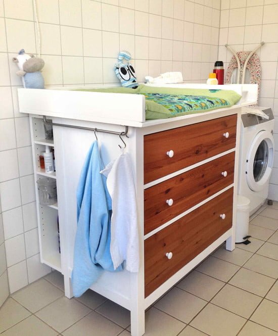 wickeltisch hemnes diaper changing table ikea hackers ikea hackers. Black Bedroom Furniture Sets. Home Design Ideas