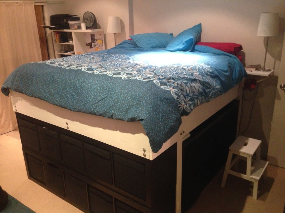 Monster Expedit King Bed Ikea Hackers