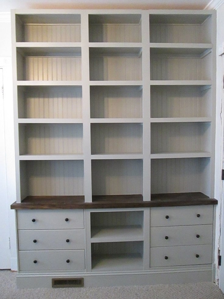 Built In Bookshelves With RAST Drawer Base
