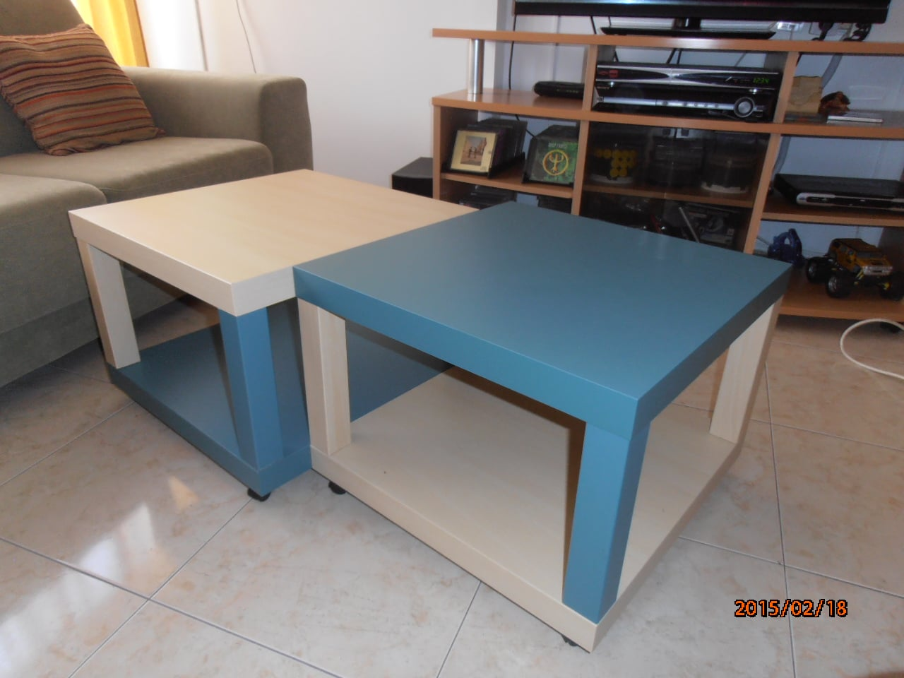 Quad lack coffee table ikea hackers ikea hackers - Customiser table basse ...