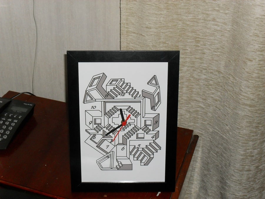 Make a wall or table clock out of your Nyttja frame