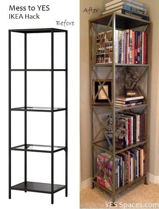 Vittsjo gold bookcase