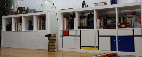 Piet Mondrian inspired upgrade to plain Expedit bookcase