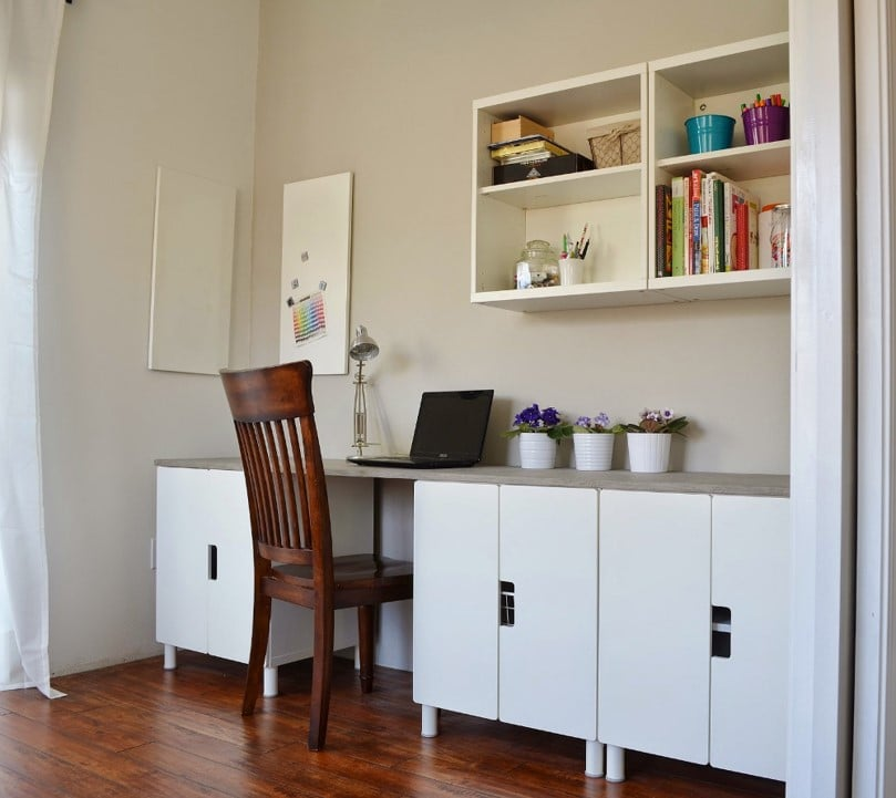 stuva desk hack with faux concrete tabletop ikea hackers ikea hackers. Black Bedroom Furniture Sets. Home Design Ideas