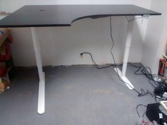 Sit Stand Corner Desk Hack