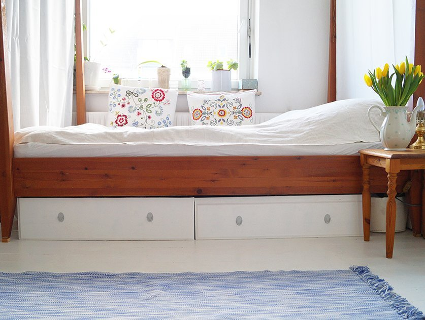 Recycle Your Old Leksvik Dresser And Make Some New Under Bed Drawers For Bedroom