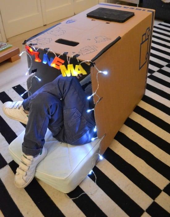 DIY cardboard IPad cinema