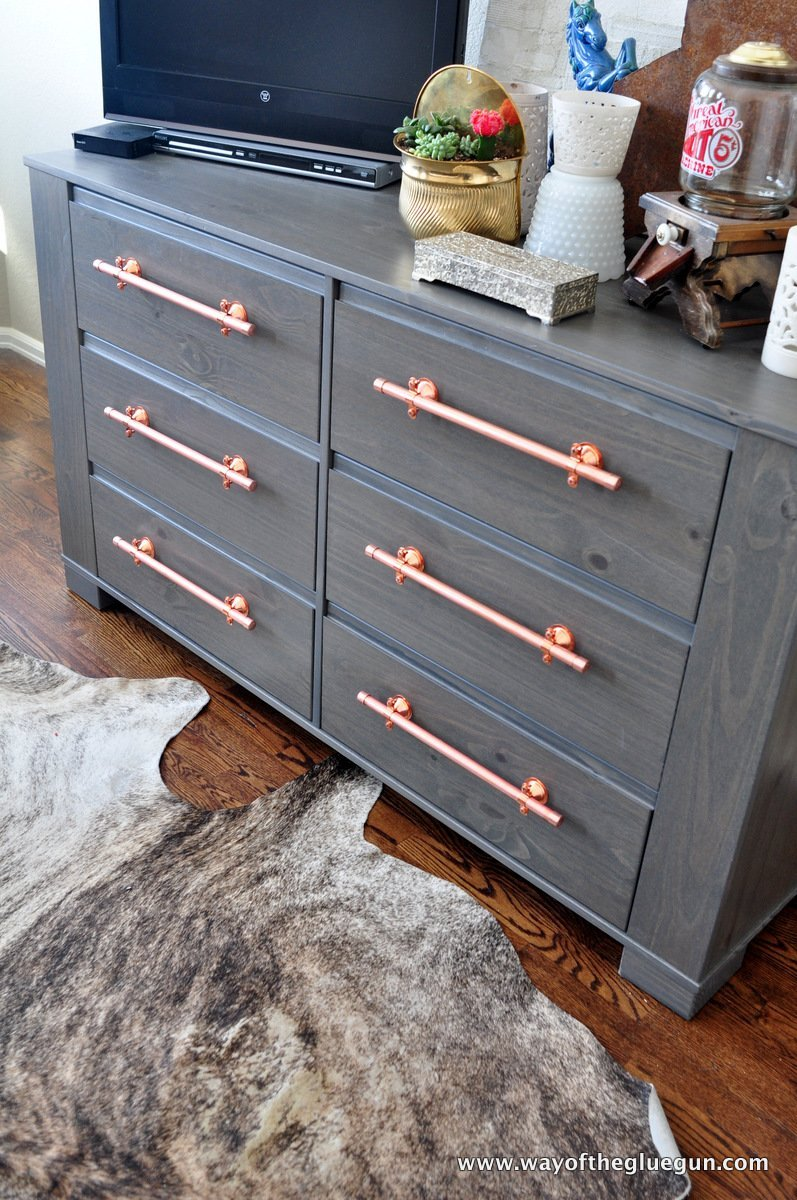 DIY Copper Drawer Pulls update an IKEA Dresser  IKEA Hackers