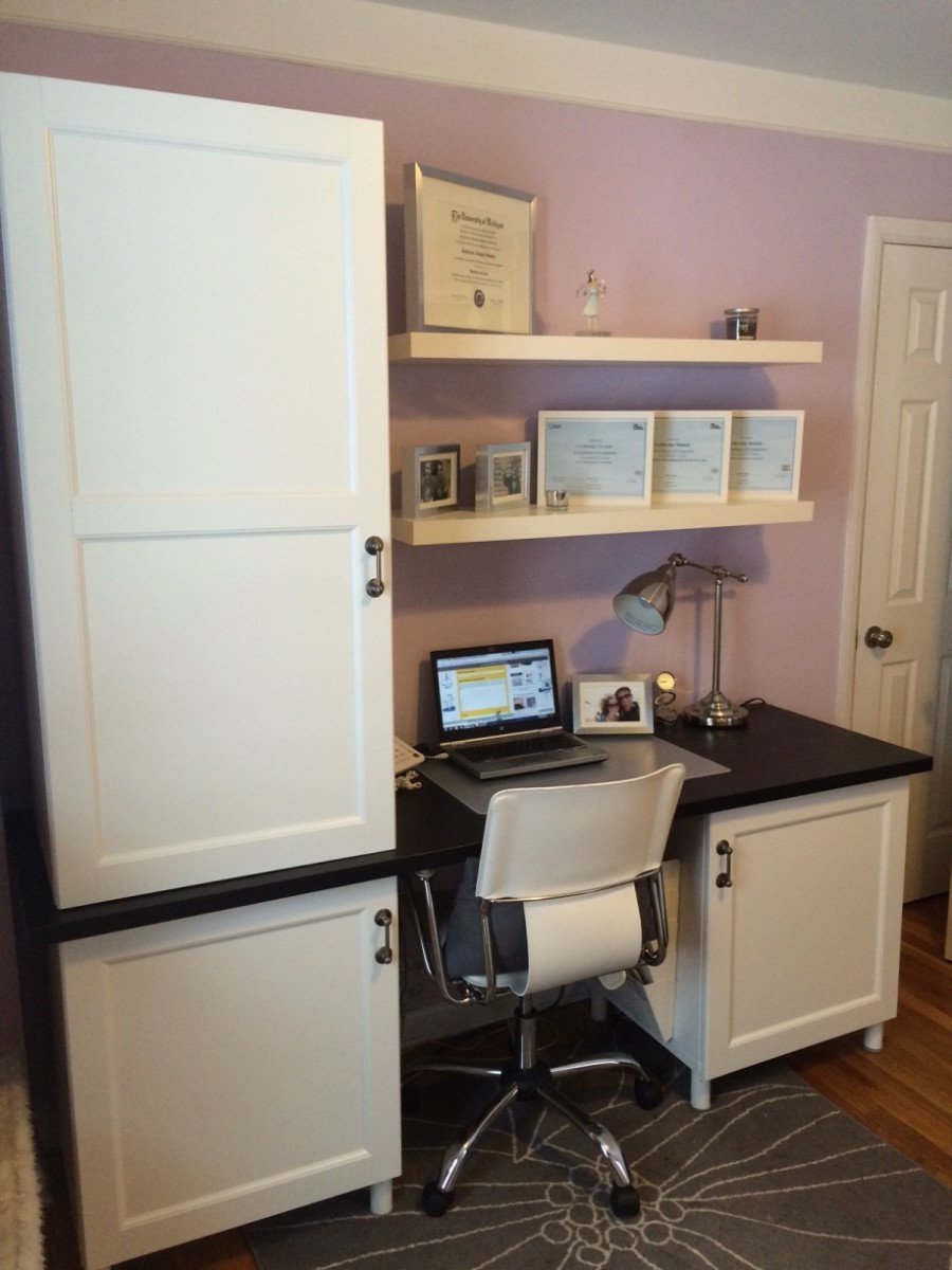 Stuva Desk With Besta Doors Ikea Hackers Ikea Hackers