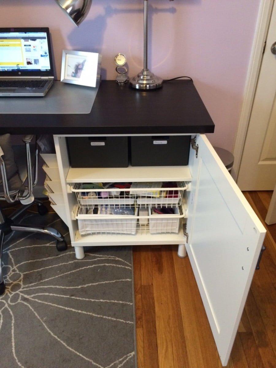 Stuva Desk With Besta Doors Ikea Hackers
